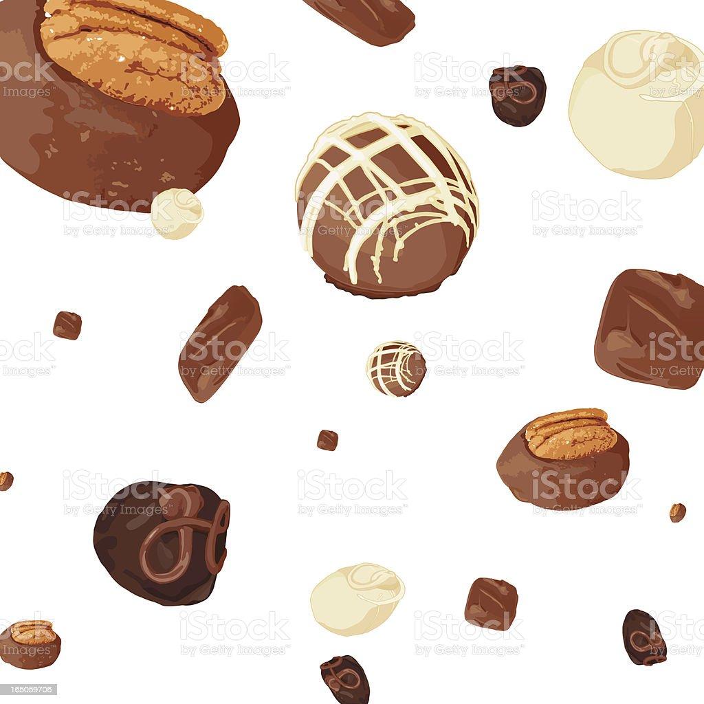 Falling Chocolates vector art illustration