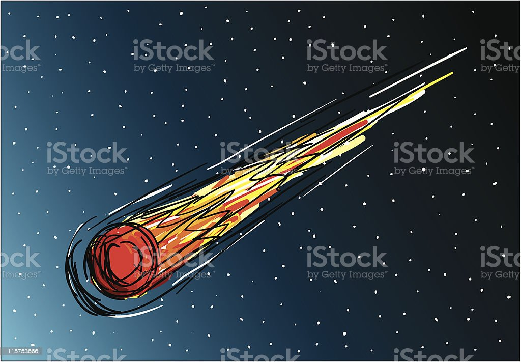 Falling comet royalty-free stock vector art