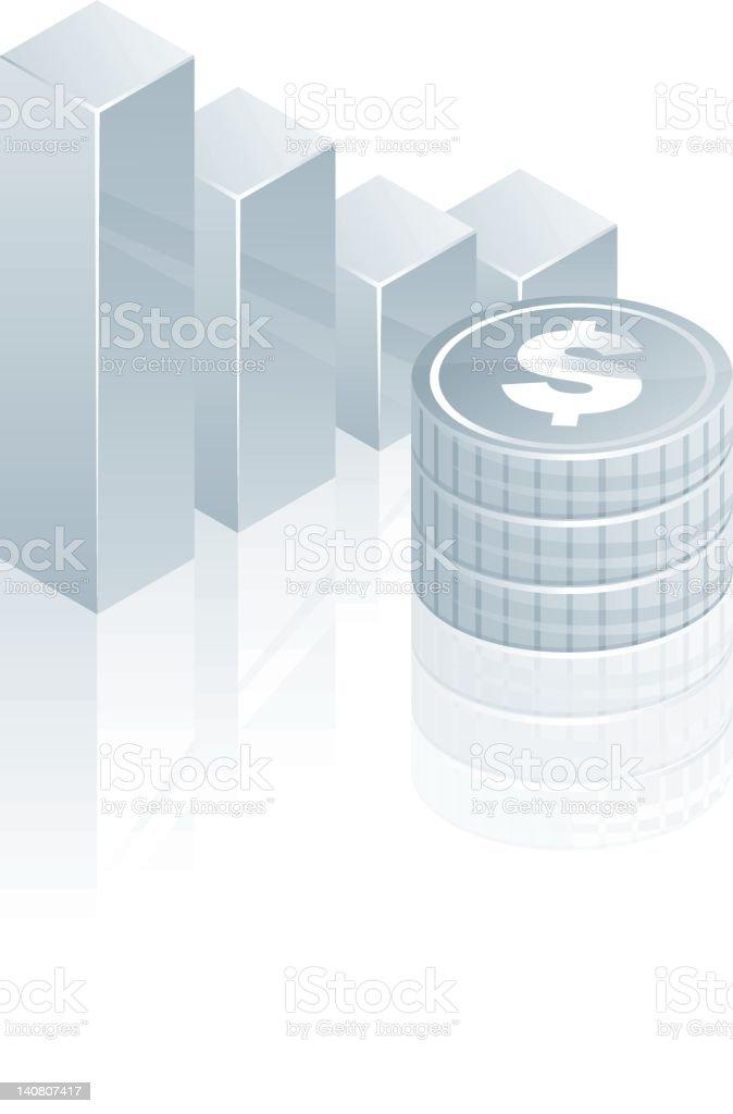 Falling Dollar royalty-free stock vector art