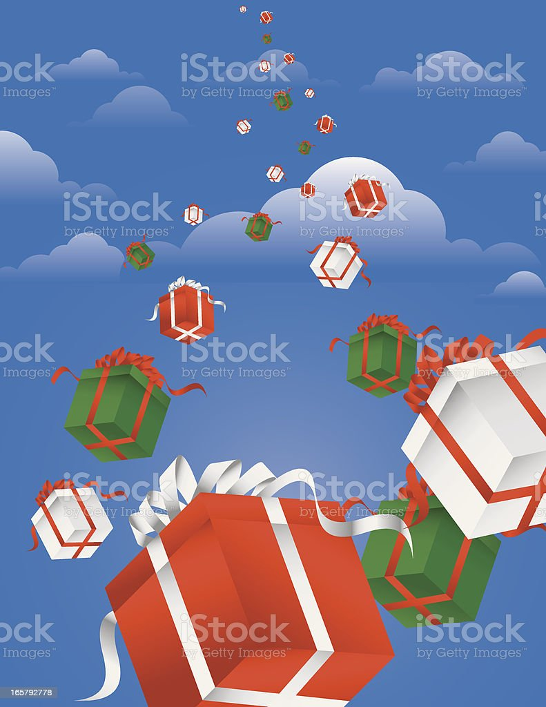 Falling Gift Boxes royalty-free stock vector art