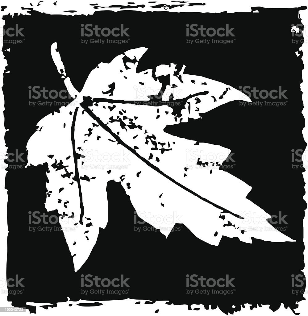 Falling leaf royalty-free stock vector art
