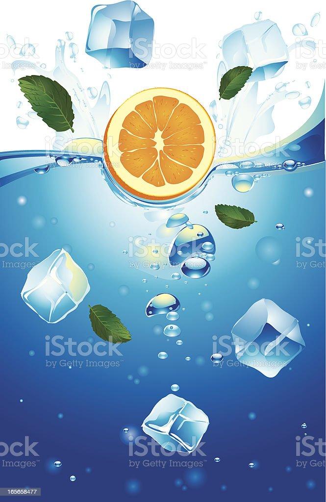 Falling orange vector art illustration