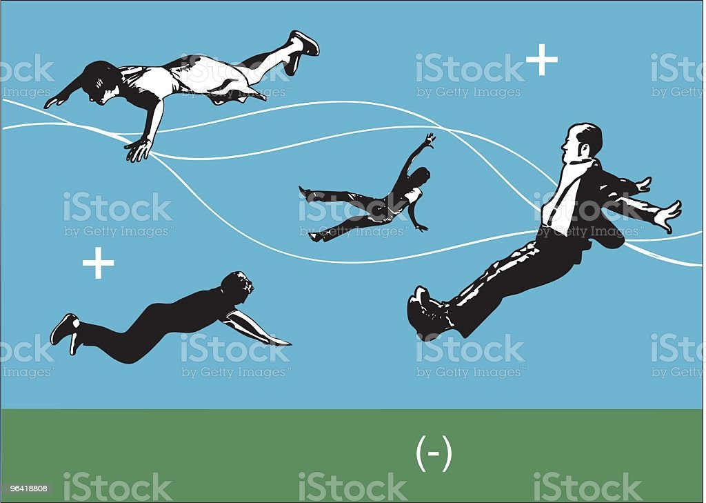 Falling people (Vector) vector art illustration