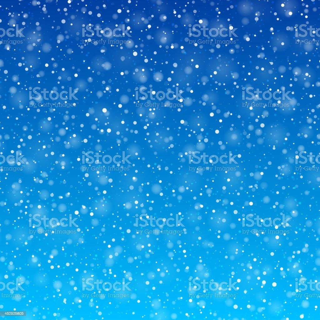 Falling snow vector art illustration