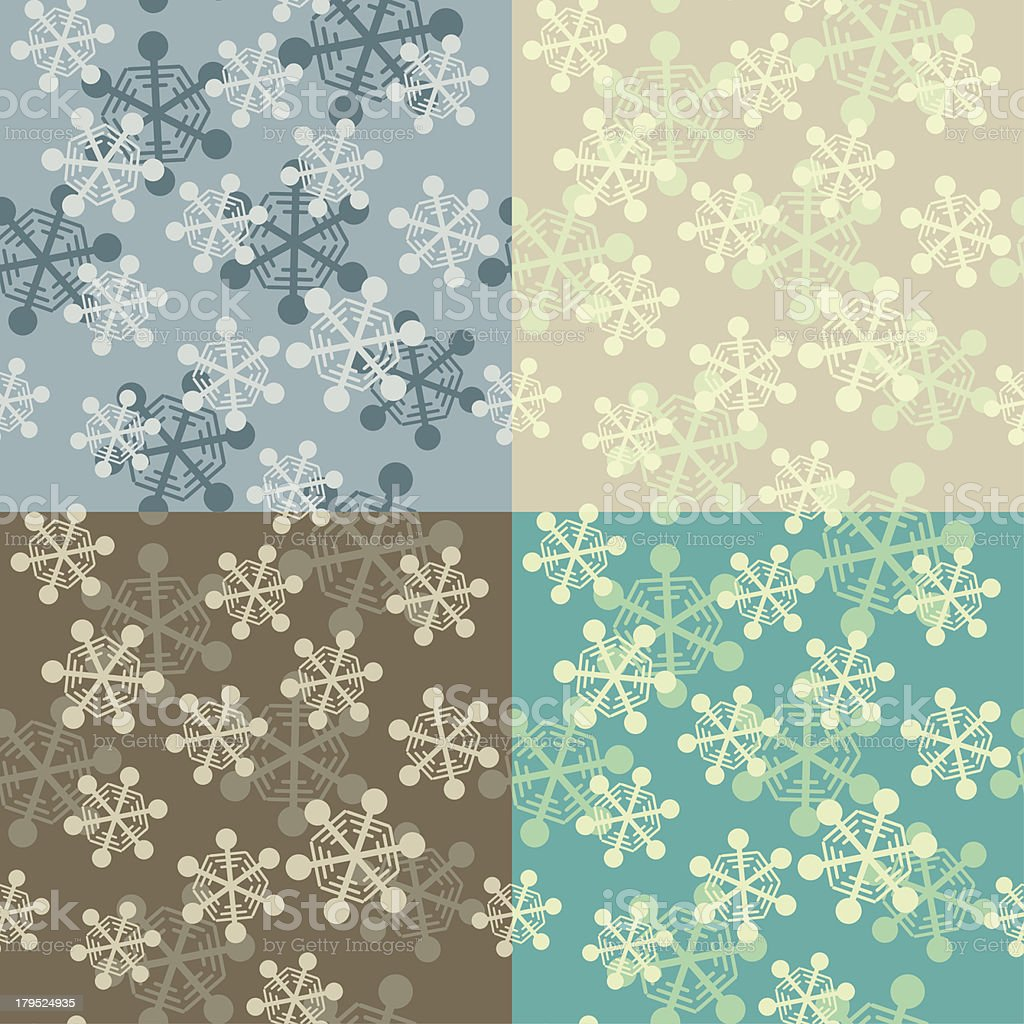 falling snowflakes seamless pattern royalty-free stock vector art