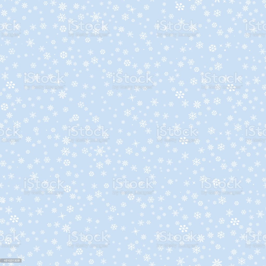 Falling Snowflakes seamless texture. royalty-free stock vector art