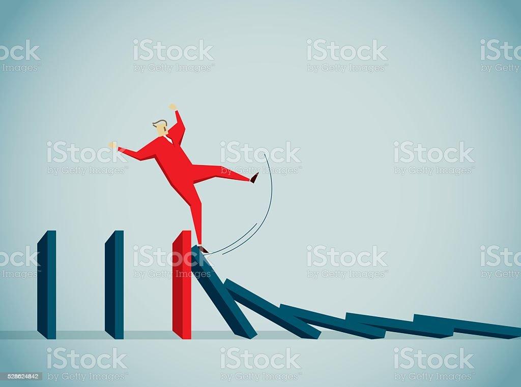 Falling vector art illustration