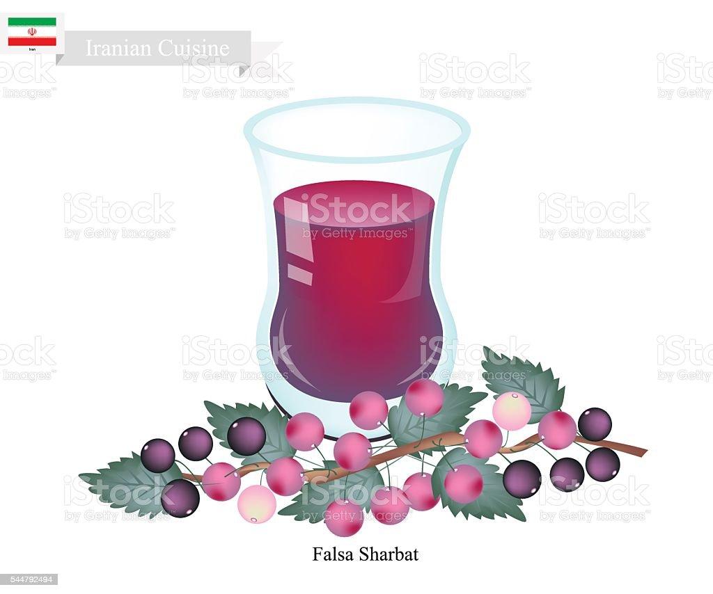 Falsa Sharbat or Iranian Drink From Grewia Asiatica vector art illustration