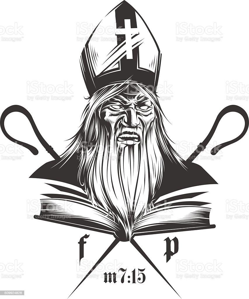False Prophet vector art illustration