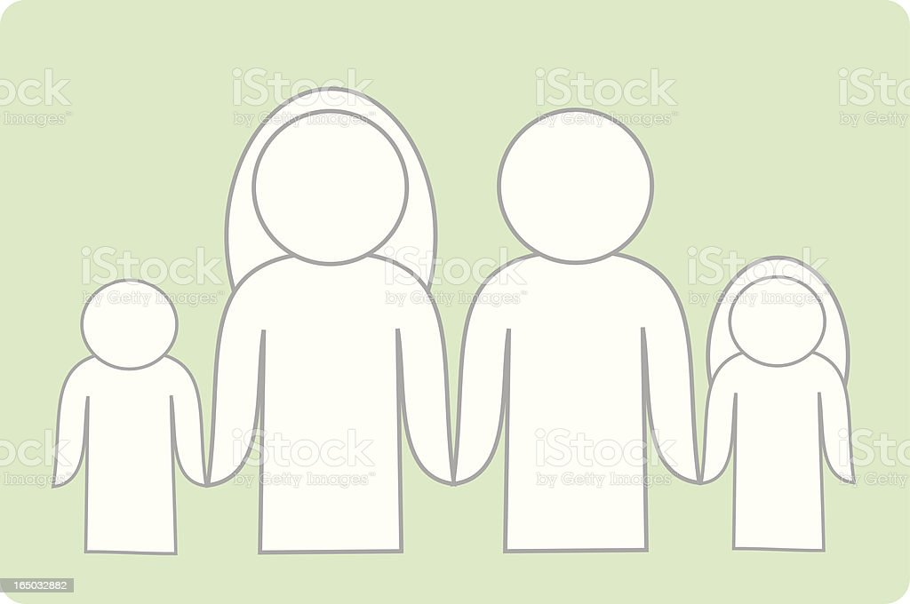 Families Together royalty-free stock vector art