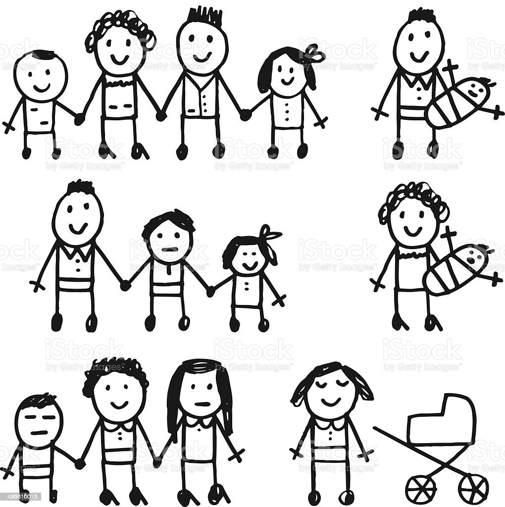 Families royalty-free stock vector art