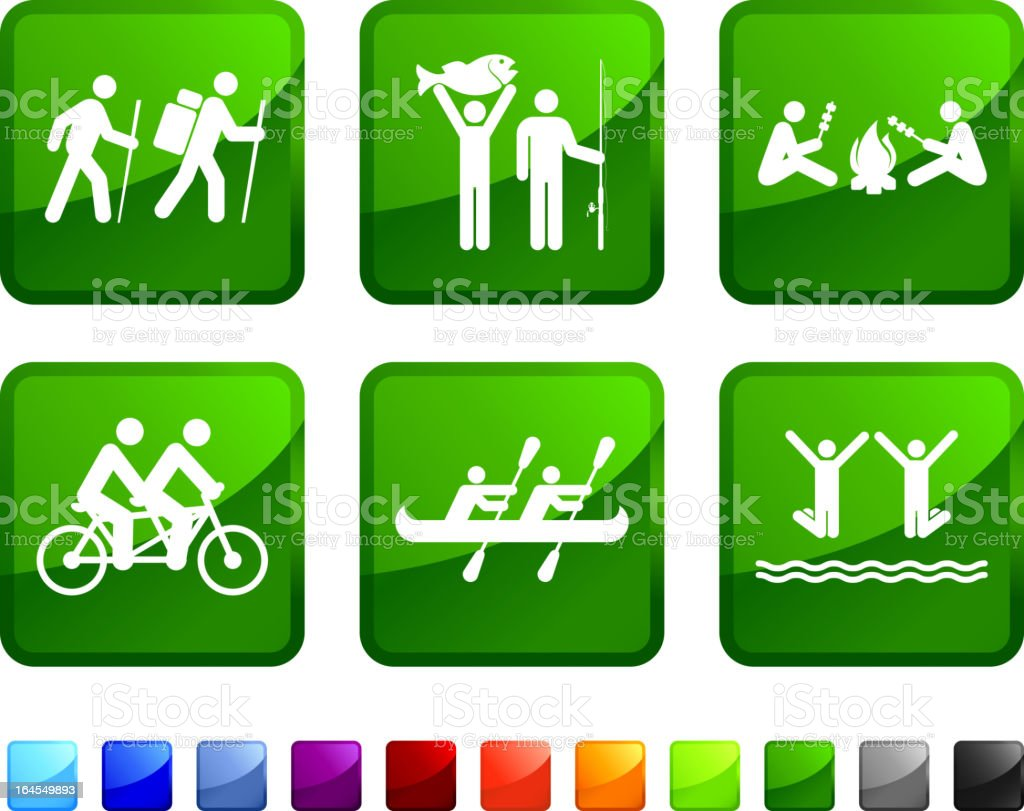 Family Activity vector icon set royalty-free stock vector art