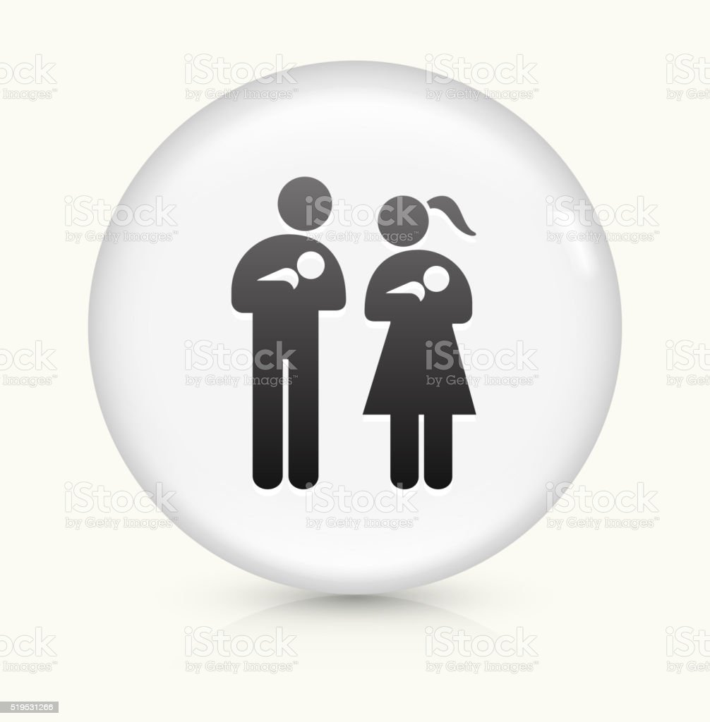Family and Babies icon on white round vector button vector art illustration