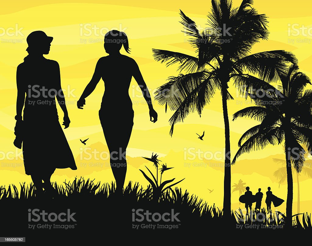 Family and Friends Scene royalty-free stock vector art
