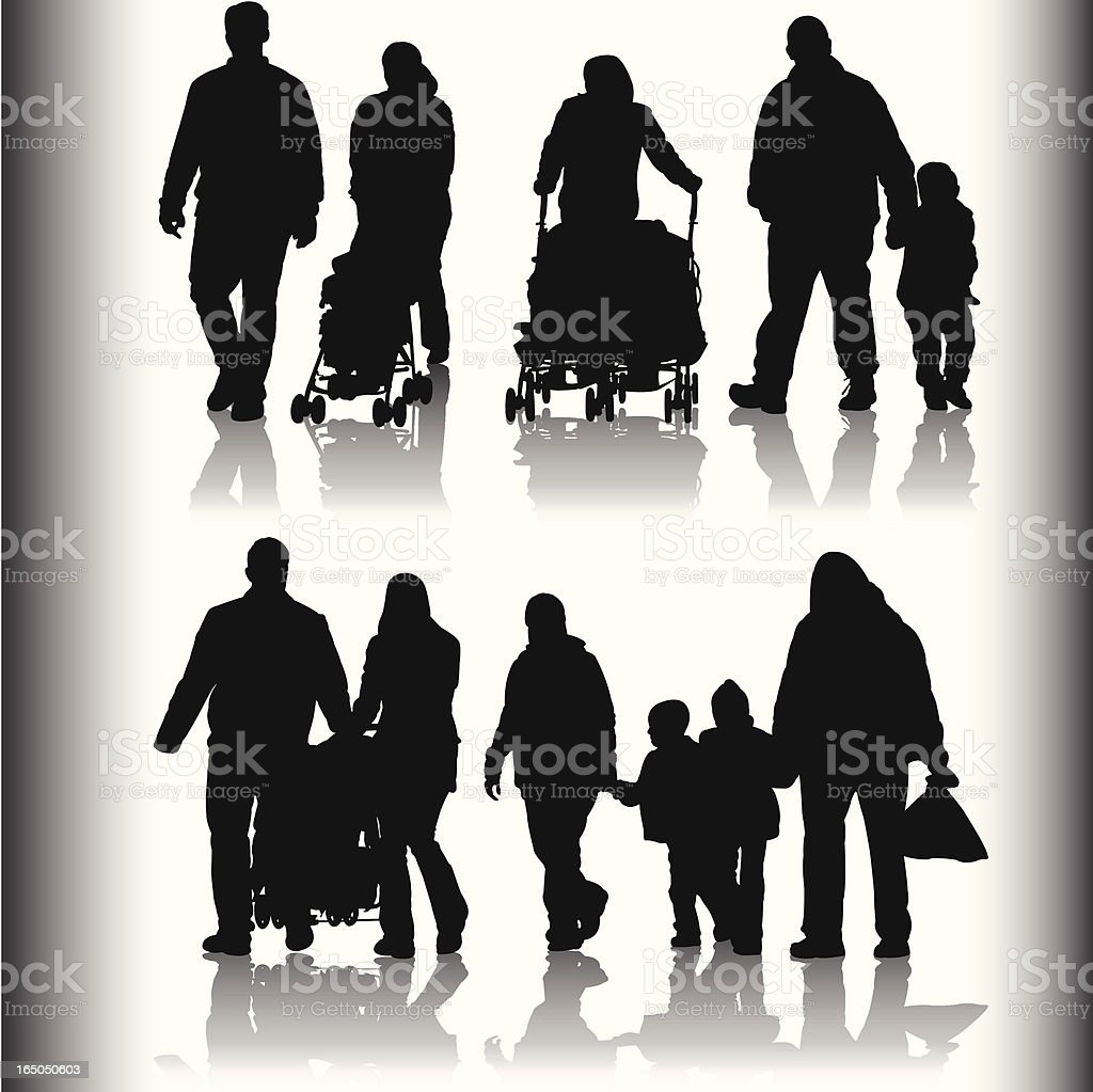 Family and Friends Shadow Series royalty-free stock vector art
