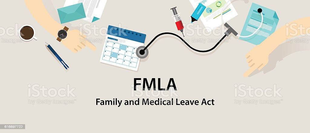 FMLA Family and Medical Leave Act vector art illustration