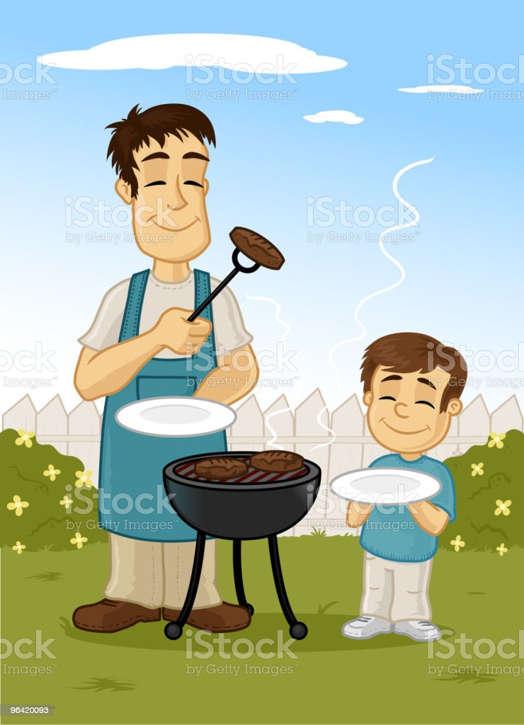 Family Barbecue royalty-free stock vector art