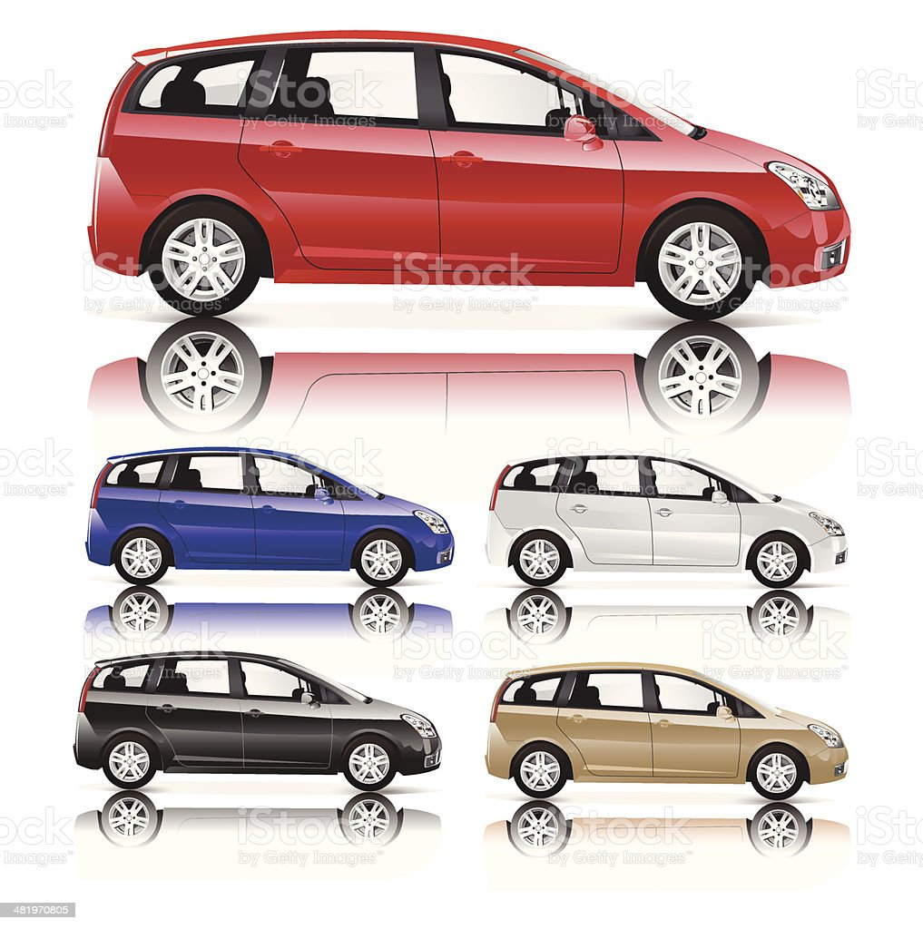 Family Car vector art illustration