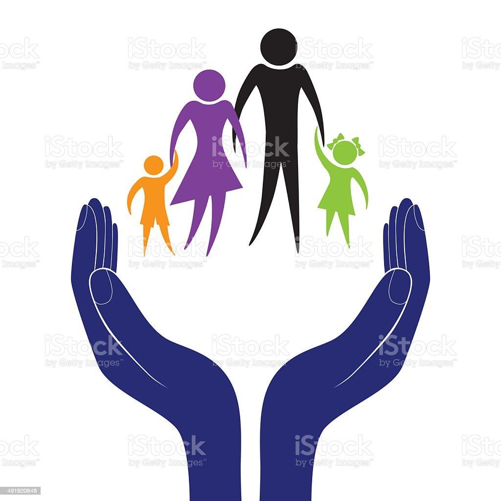 Family care vector vector art illustration