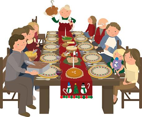 christmas dinner clip art - photo #23