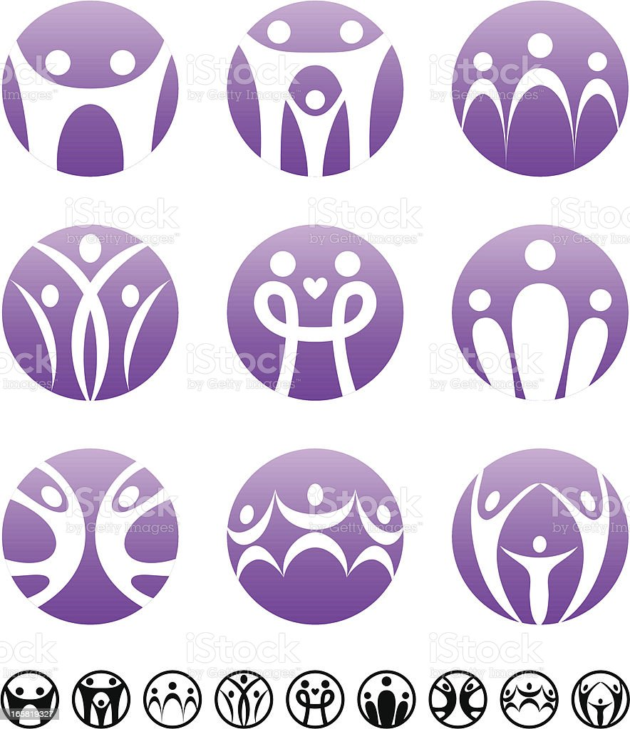 Family   Circle symbolic set vector art illustration