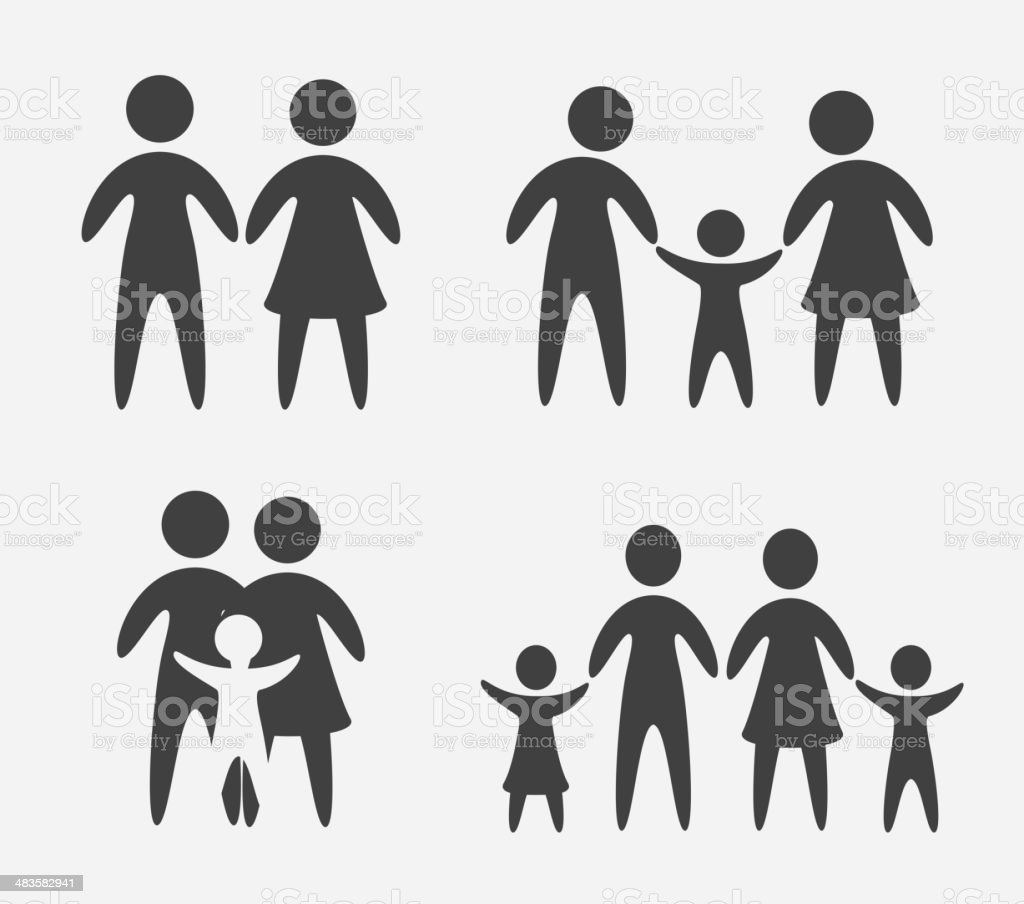 Family design vector art illustration