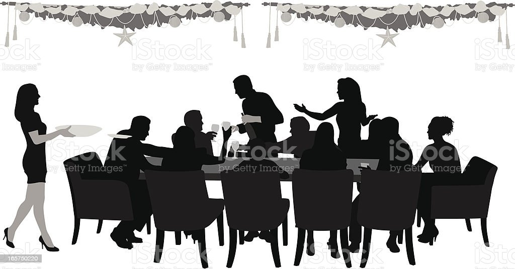 FamilyDinner vector art illustration