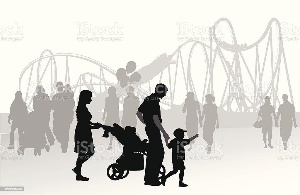 Family Fair Vector Silhouette royalty-free stock vector art