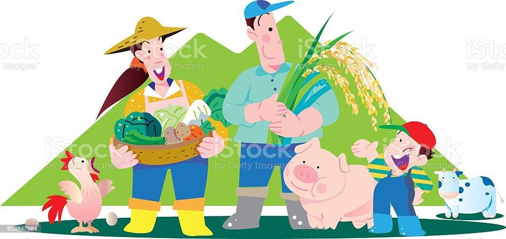 Family family vector art illustration