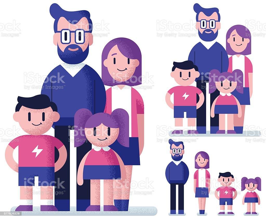 Family Flat Design vector art illustration