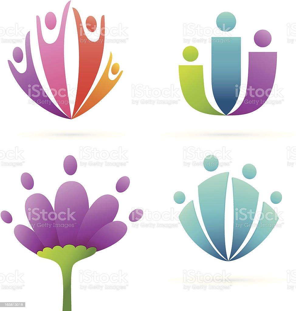 Family flower royalty-free stock vector art