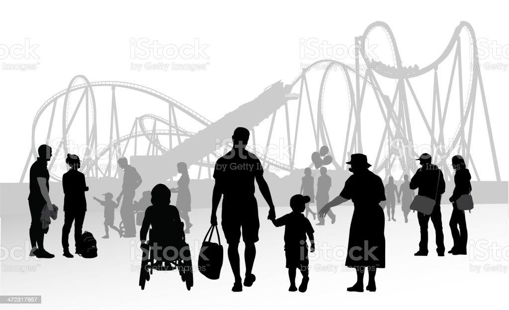 Family Fun royalty-free stock vector art
