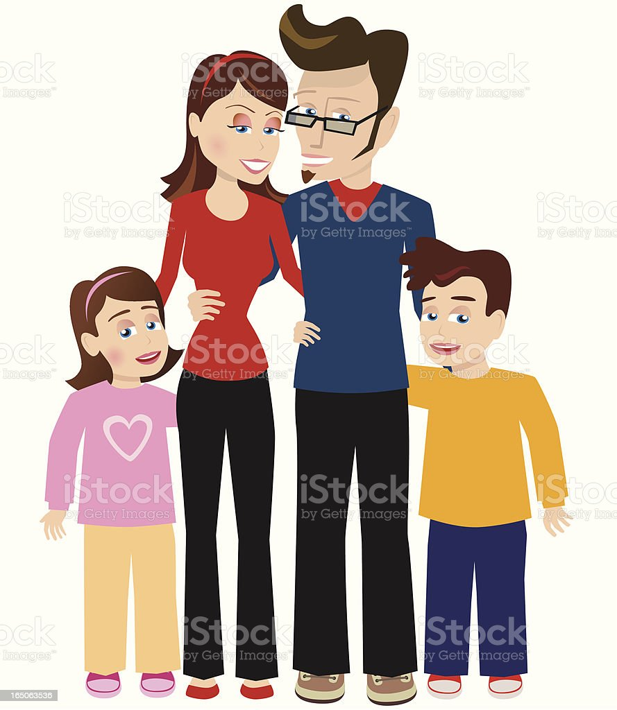 Family group royalty-free stock vector art