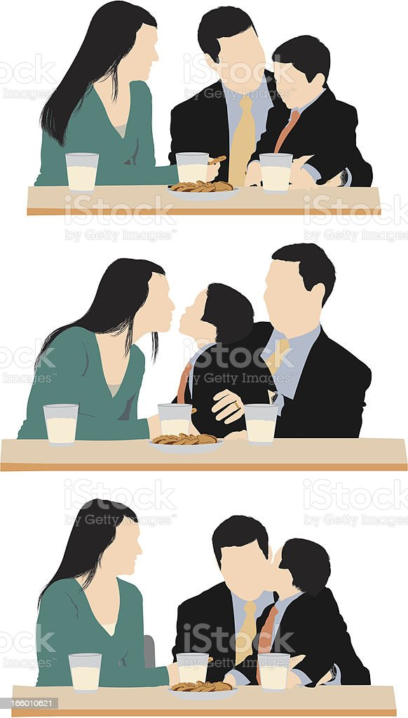Family having breakfast together royalty-free stock vector art