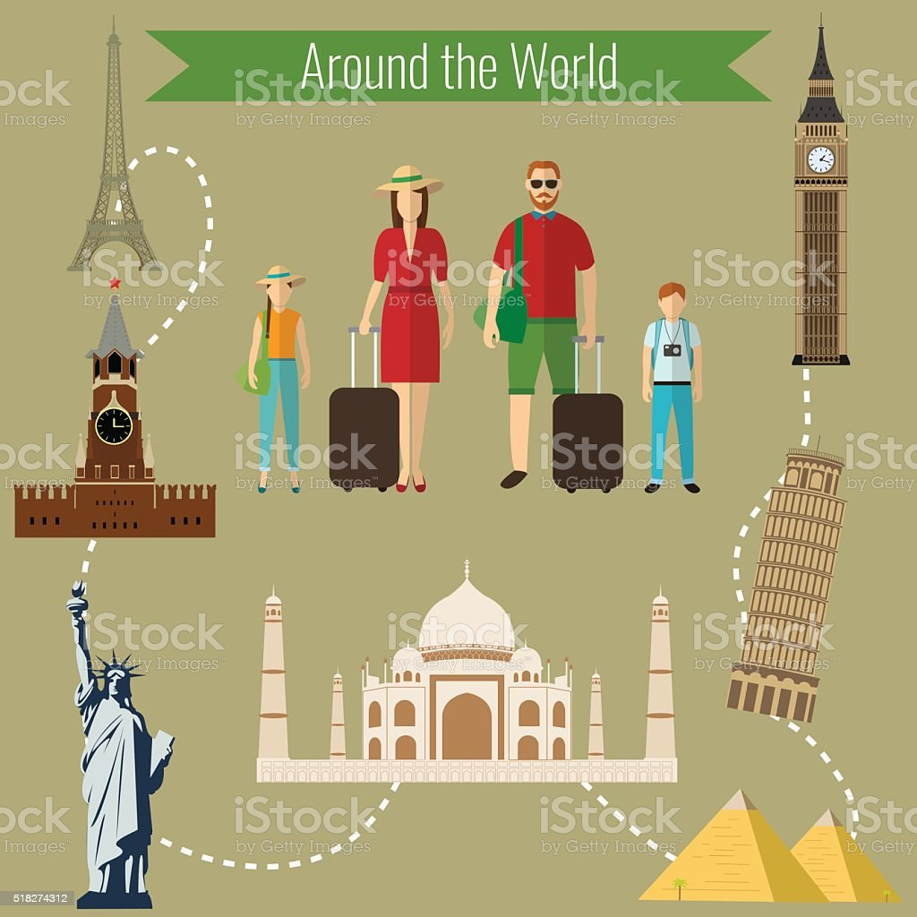 Family holidays. Countries of the world design template. royalty-free stock vector art