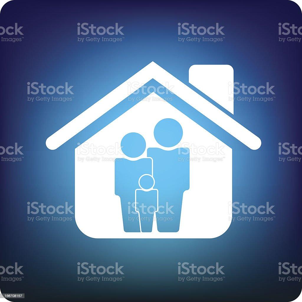 family home royalty-free stock vector art