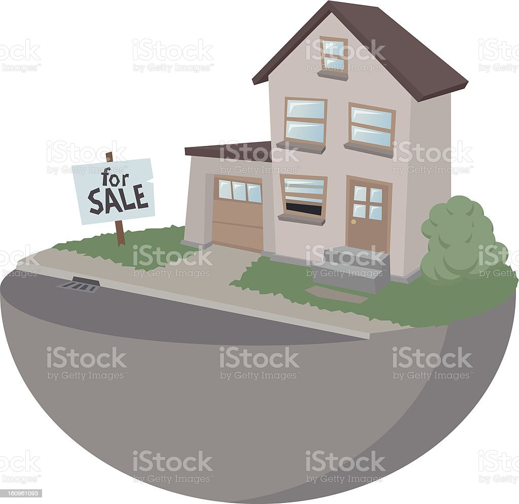 Family house for sale royalty-free stock vector art