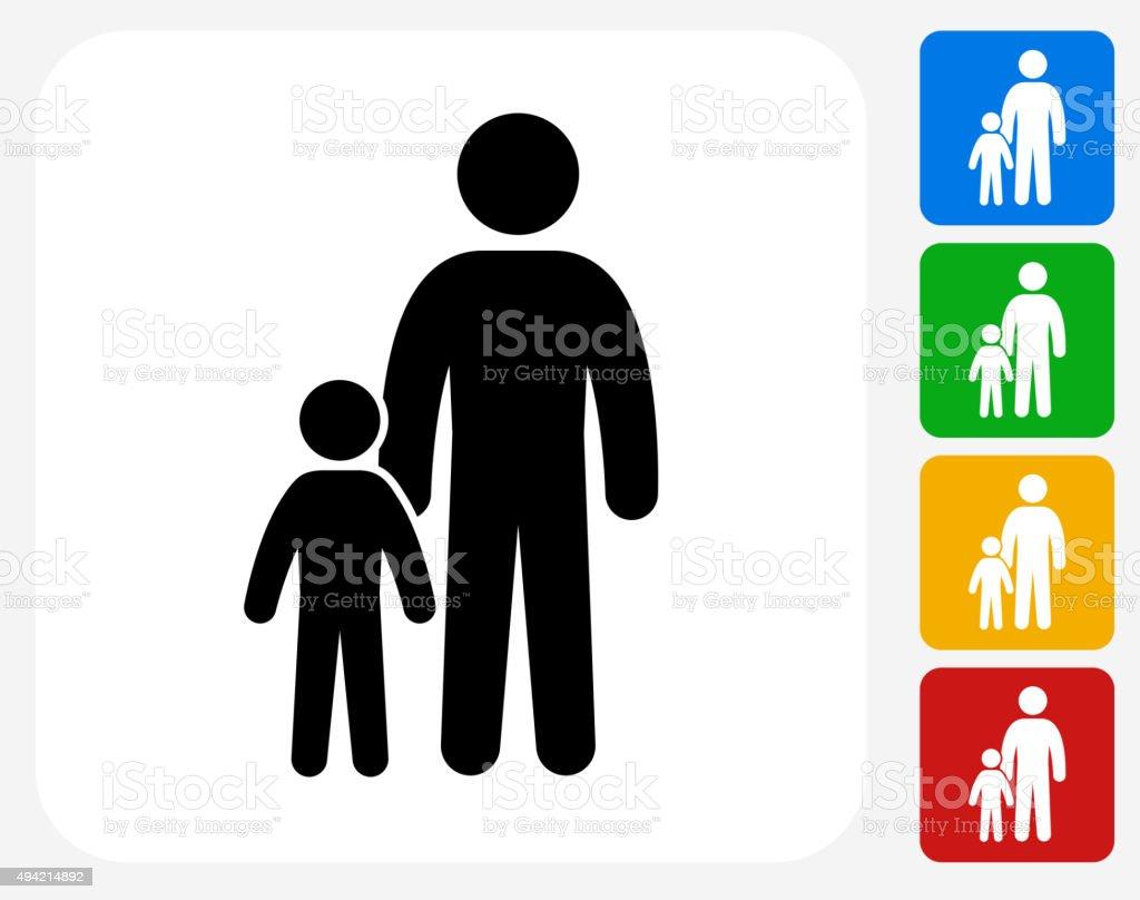 Family Icon Flat Graphic Design vector art illustration