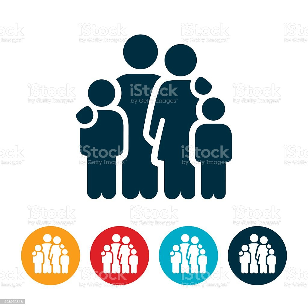 Family Icon vector art illustration