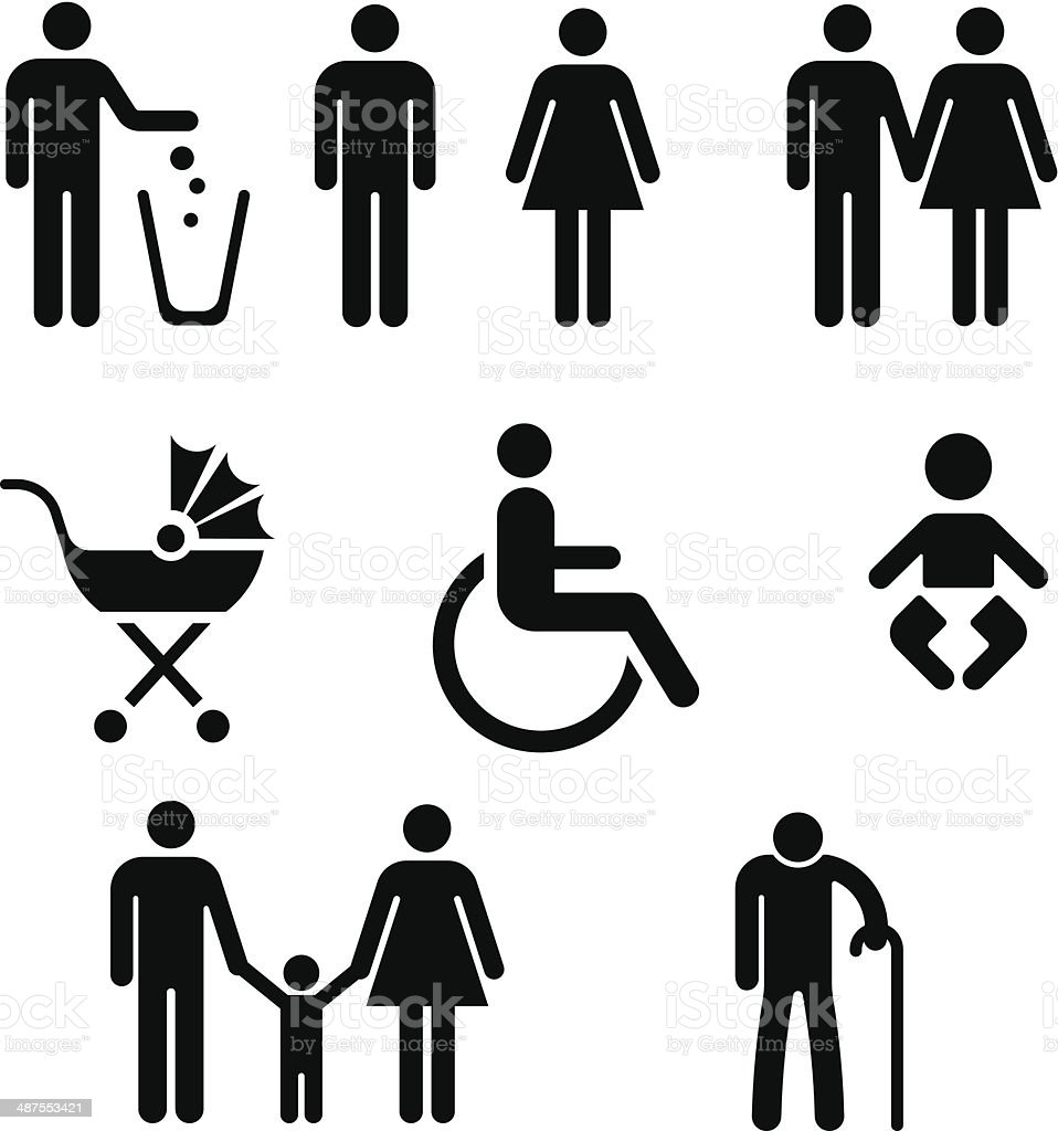Family Icon- Vector vector art illustration