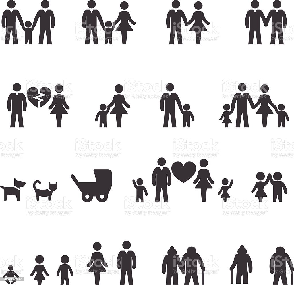 Family Icons - Acme Series vector art illustration