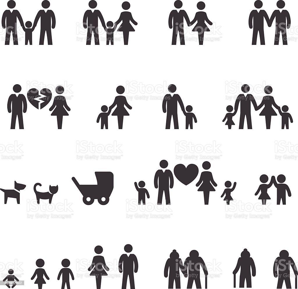 Family Icons - Acme Series vector art illustration