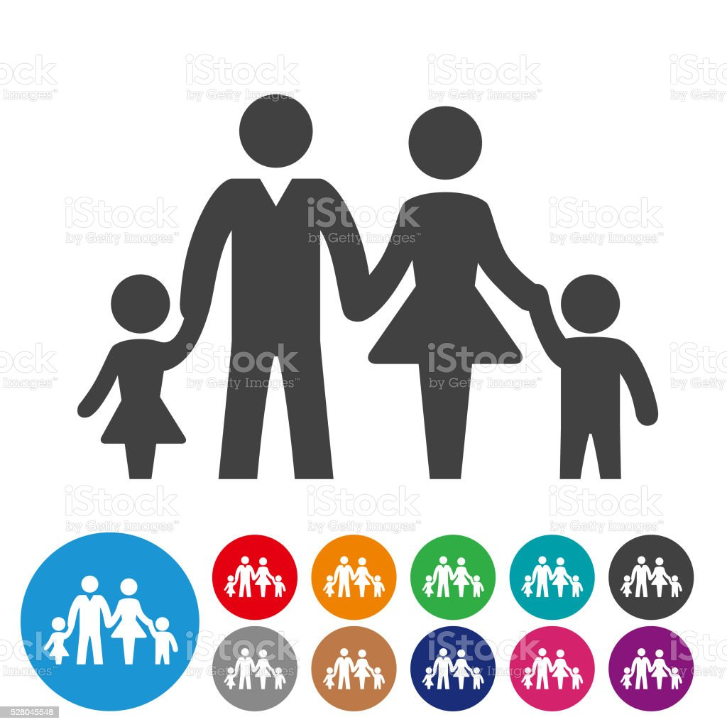 Family Icons - Graphic Icon Series vector art illustration