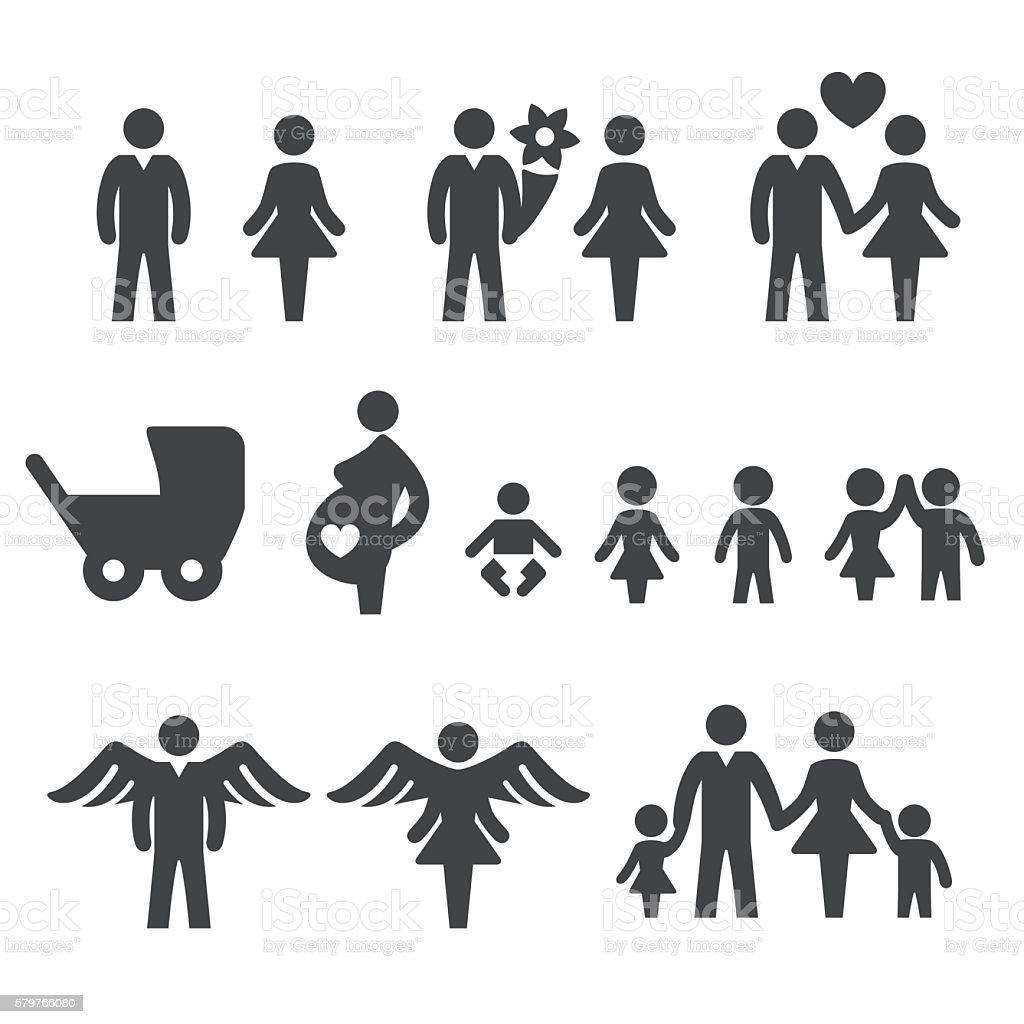 Family Icons Set - Acme Series vector art illustration