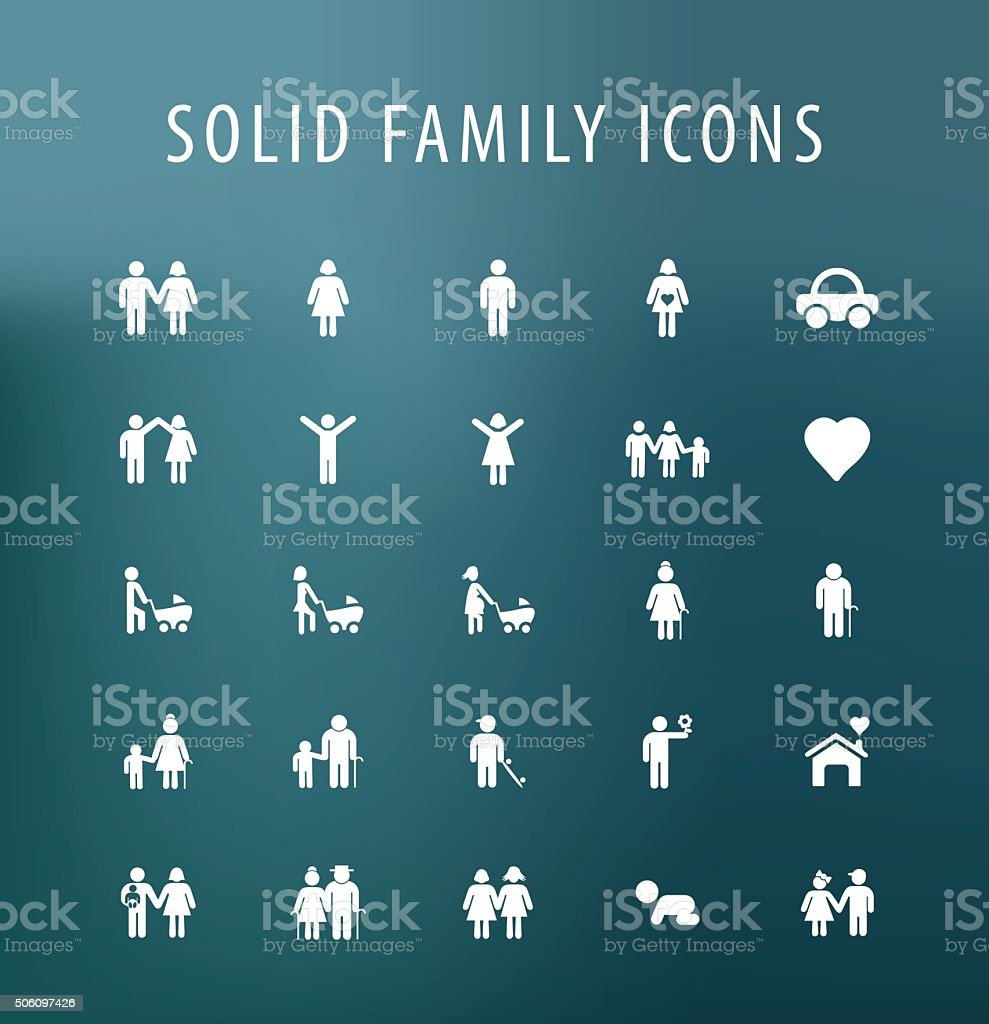 Family Icons. vector art illustration