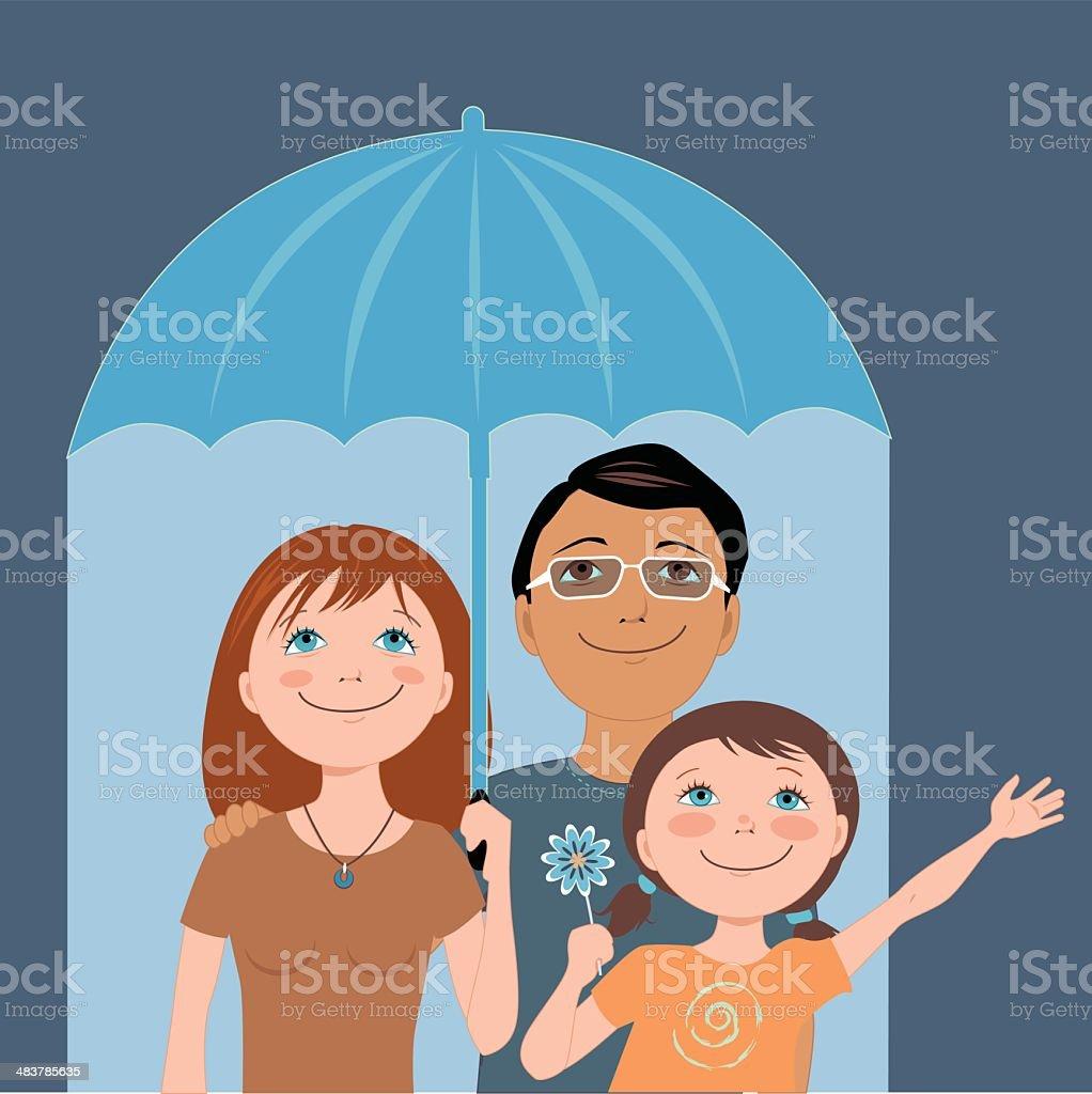 Family insurance vector art illustration