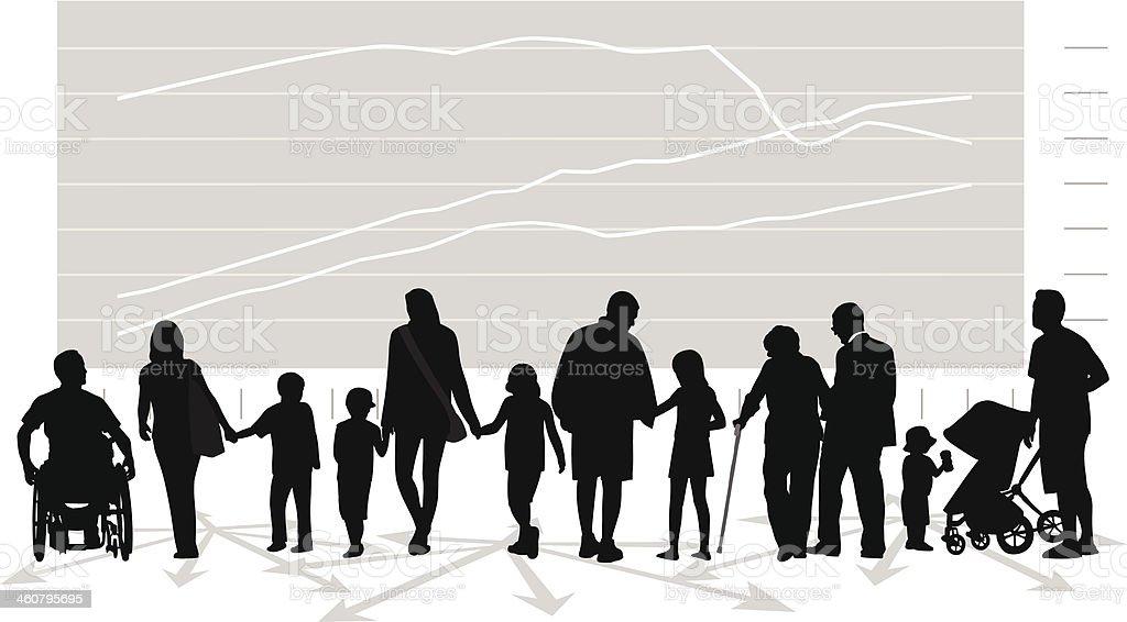 Family Issues vector art illustration