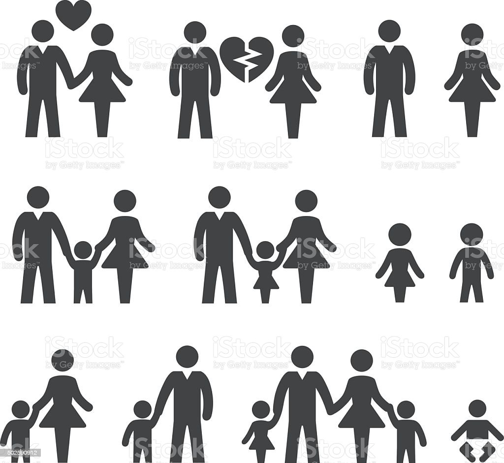 Family life Icons - Acme Series vector art illustration