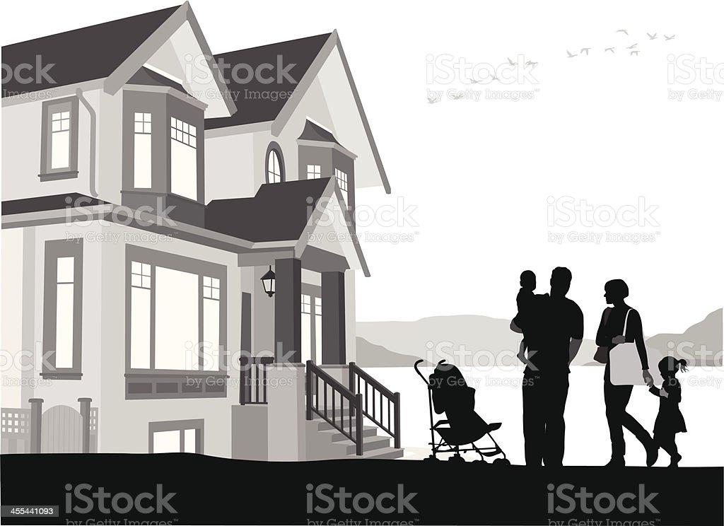 Family Life royalty-free stock vector art
