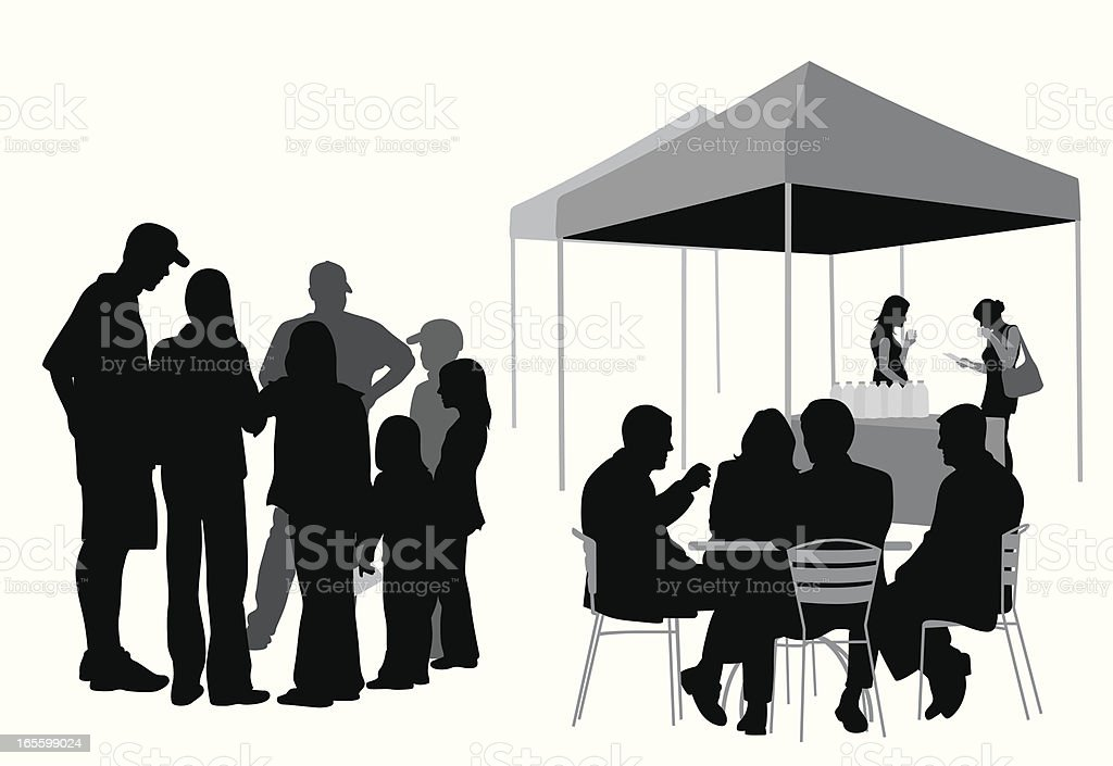 Family 'n Friends Vector Silhouette royalty-free stock vector art
